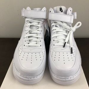 8ef4a2f2467e8 Nike Shoes | Lab Air Force 1 Mid Triple White 819677100 | Poshmark